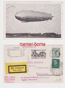 80904 Flugpost Karte Luftschiff
