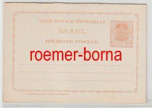69242 seltene Ganzsachen Antwort Postkarte Brasilien 80 Reis um 1900