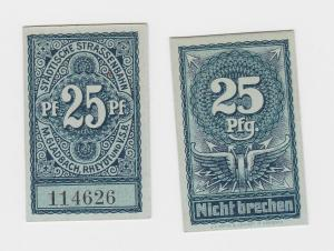 25 Pfennig Fahrgeld der städtischen Strassenbahn M.Gladbach um 1920 (124948)