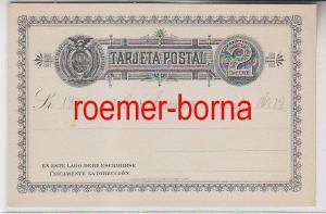 73343 seltene Ganzsachen Postkarte Ecuador 2 Centavos Schwarz 1885