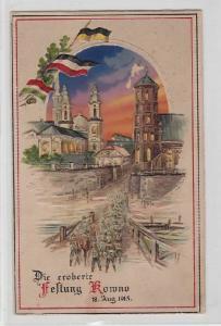 89629 Halt gegens Licht Ak Die eroberte Festung Kowno 18.August 1915