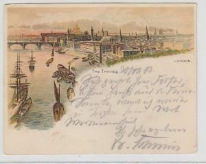 70472 Ak Lithographie London the Thames die Themse 1903