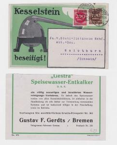 49268 Werbe Postkarte Fa. G. F. Gerdts Bremen Gestra Speisewasser Entkalker 1923
