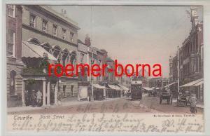 78261 Ak Taunton North Street  mit Strassenbahn 1906