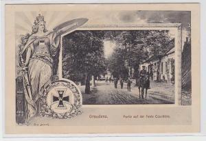 90516 Feldpost Ak Graudenz Partie auf der Feste Courbierre 1915