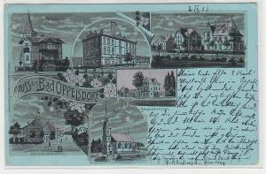 70098 Mehrbild Ak Gruss aus Bad Oppelsdorf (Opolno Zdrój) Hotel usw. 1903