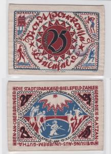 25 Mark Banknote Seide Stadtsparkasse Bielefeld 15.Juli 1921 (120189)