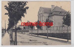 71411 Ak Bojanowo Bahnhofstraße u. Landwirtschaftl. Schule 1917