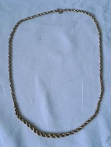 Hübsche geflochtene Damen Halskette 333er Gold Länge 44 cm (120705)