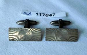 Hübsche Manschettenknöpfe 835er Silber mit Rosettenmuster um 1930 (117847)