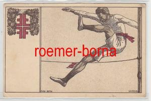 79764 Künstler Ak Max Both Leipzig Turnen Hochspringer Gut-Heil-Verlag 1912
