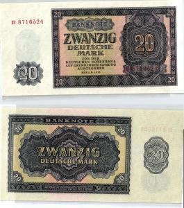 20 Mark Banknote DDR Deutsche Notenbank 1955 kassenfrisch (124014)