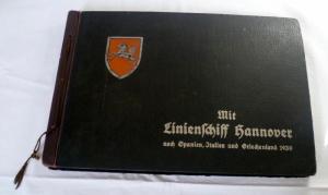 Fotoalbum Linienschiff Hannover mit 211 Foto Fahrt 1930 (Nr. 1487)