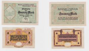2 Banknoten Notgeld Residenzstadt Karlsruhe 16.10.1918 (120654)