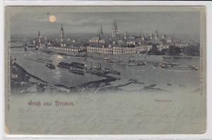81769 Mondschein AK Gruß aus Bremen - Panorama 1899
