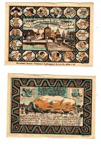 3 Mark Banknote Notgeld Handwerkertagung Ahlen 1922