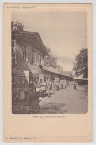 86807 Ak Aus Leipzigs Vergangenheit Motiv aus Lehmann´s Garten um 1900