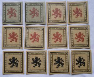 12 Banknoten Notgeld Städt.Sparkasse Wasserburg a.Inn 1920 (114222)
