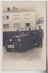 34039 Foto Ak Opel Automobil Wolgast 1928