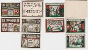 4 Banknoten Paderborn historische Begebenheiten 10.11.1921 (120585)
