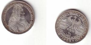 BRD Gedenk Münze 5 Mark Markgraf von Baden 1955 (BN3481)