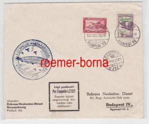 82900 seltener Brief ZEPPELINPOST 1931 Ungarnfahrt mit Zeppelinmarken