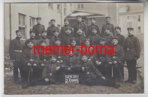 78677 Foto Ak Militär Gruppenbild L.I.R.101 3.Korporalschaft um 1915
