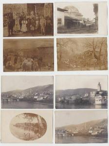 93127/8 Foto Ak Mazedonien Ortsansichten im 1.Weltkrieg