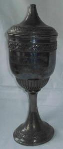 Versilberter Pokal des Saalfelder Billardklubs um 1920 (110395)