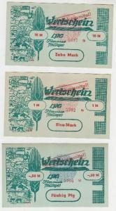 0,1, 0,5 & 1 Mark Banknote DDR LPG Geld