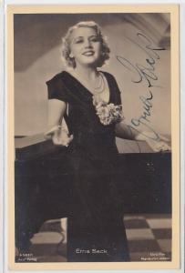 68600 Autograph Karte Deutsche Schauspielerin Erna Sack um 1939