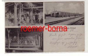 80640 Mehrbild Ak Hohensalza Kriegsverpflegungsanstalt, Küche, Speisesaal 1917