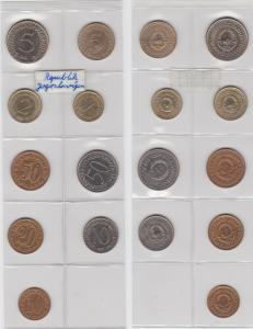 KMS Kursmünzensatz Jugoslawien 9 Münzen 1973 - 1991 (132122)