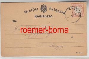 75844 Karte mit 1/2 Groschen Brustschild Marke Orange Stempel Weimar 1872