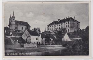 89534 AK Dürnholz (Drnholec) Nd - Kirche und Schloß 1942