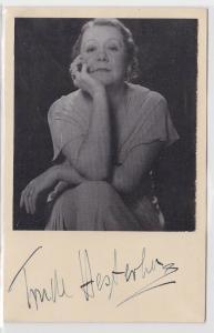 52131 Autograph Karte Deutsche Schauspielerin Trude Hesterberg um 1939