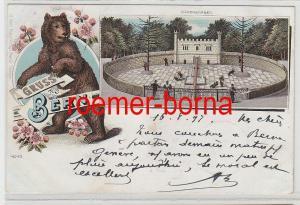79189 Ak Lithografie Gruss aus Bern Bärengraben 1897