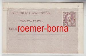 74922 seltene Ganzsachen Postkarte Argentinien 4 Centavos um 1900