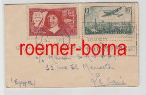 82429 seltener Brief von Frankreich nach Ägypten 1937