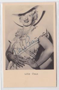 84137 Autograph Karte Deutsche Schauspielerin Lillie Claus um 1939