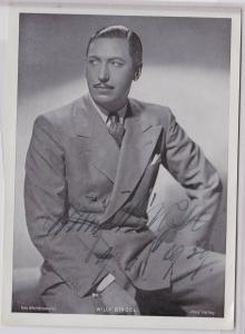 78782 Autograph Foto Deutscher Schauspieler Willy Birgel 1939