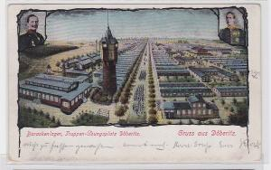 82779 AK Gruss aus Döberitz - Barackenlager, Truppenübungsplatz Döberitz 1910