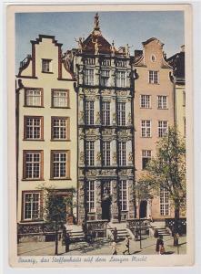 10389 Ak Danzig das Steffenhaus auf dem langen Markt um 1930