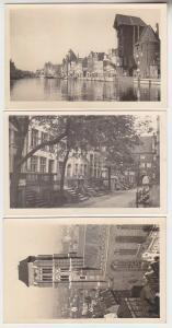 52057/3 Ak Danzig Marienkirche, Krantor, Frauengasse um 1930