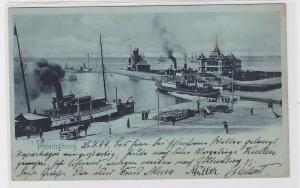 90775 AK Helsingborg - Hafenpromenade mit mehreren Dampfschiffen 1899