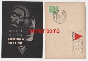 72881 Künstler Ak VVN Verfolgte des Naziregimes Landeskonferenz Dresden 1948