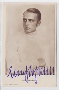 41621 Autograph Karte Deutscher Schauspieler Ernst Hofmann um 1939
