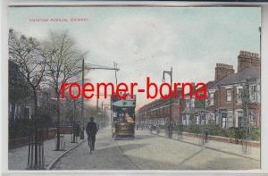 78259 Ak Grimsby Hainton Avenue mit Strassenbahn um 1910