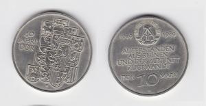 DDR Gedenk Münze 10 Mark 40.Jahrestag der DDR 1989 (134398)