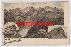 72238 Mehrbild Ak Gruss vom Appenzeller Land Wirtshaus Hohenkasten um 1900